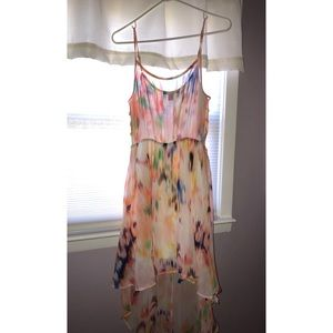 Summer dress NEW large high low sheer forever21